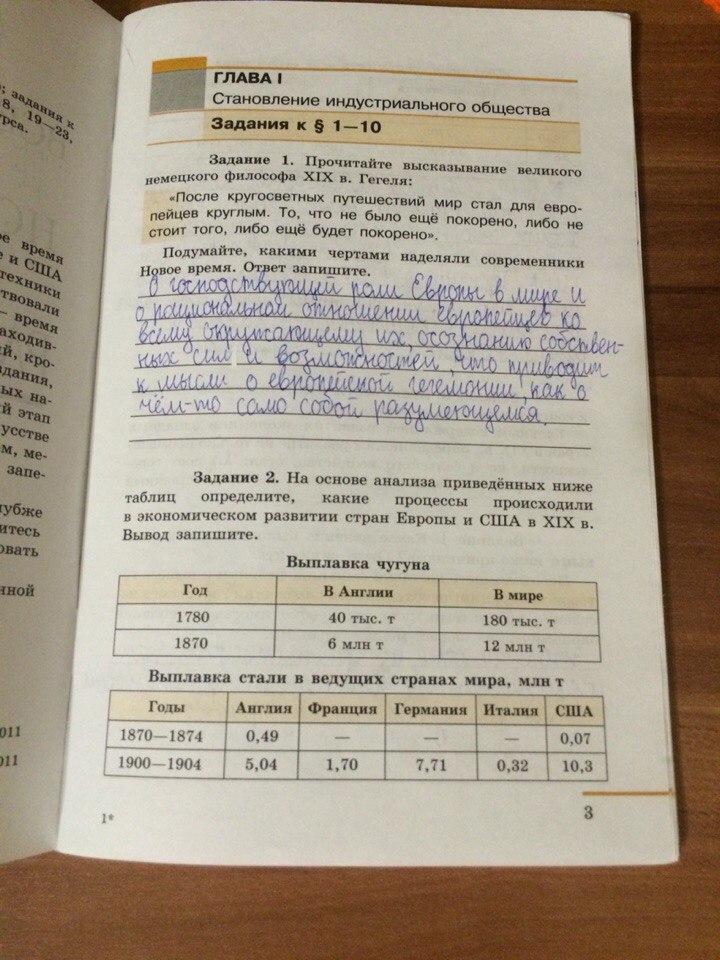 История нового времени 8 класс юдовская баранов ванюшкина гдз таблица