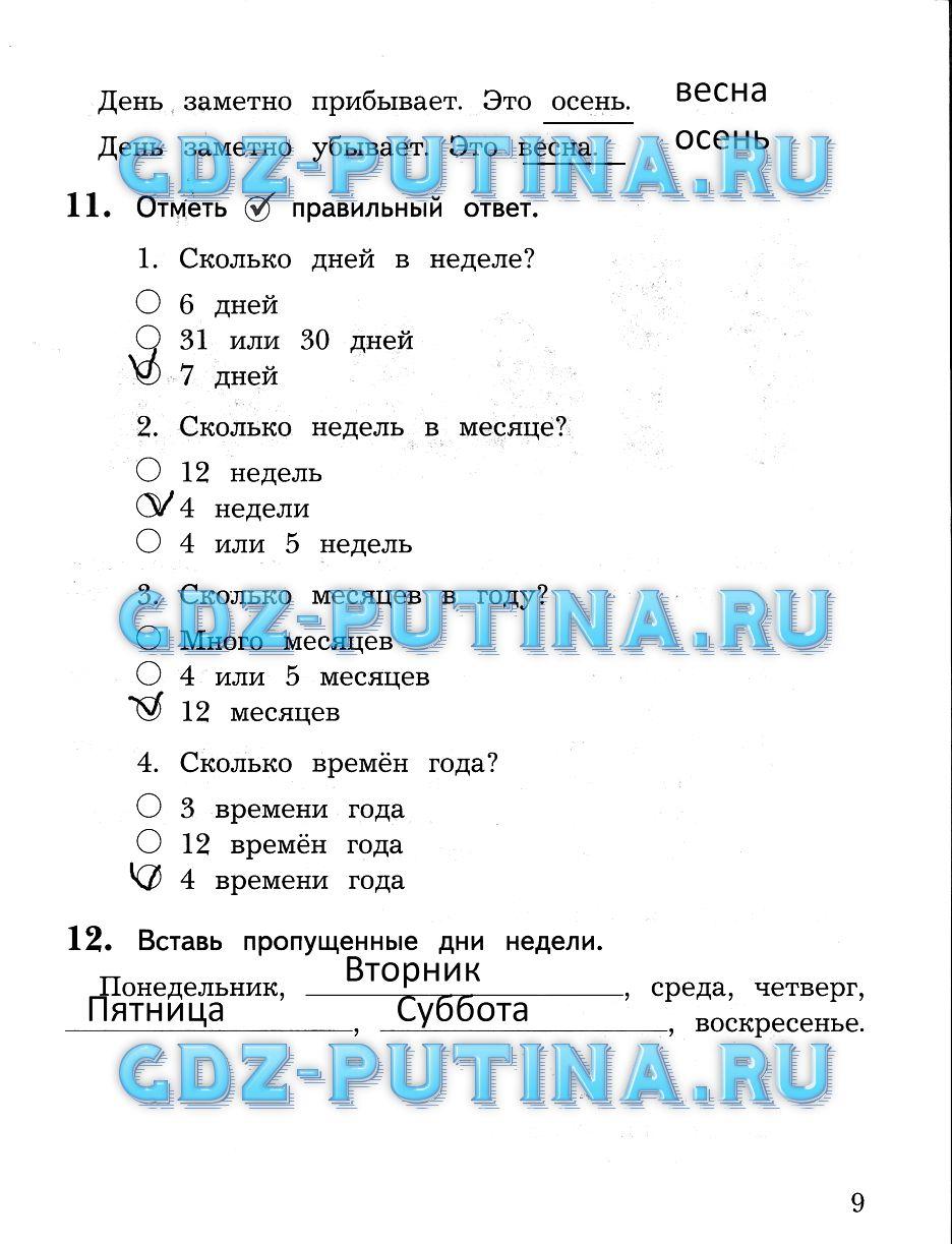 Н.ф.виноградова готовые домашние задания русский язык 2 класс