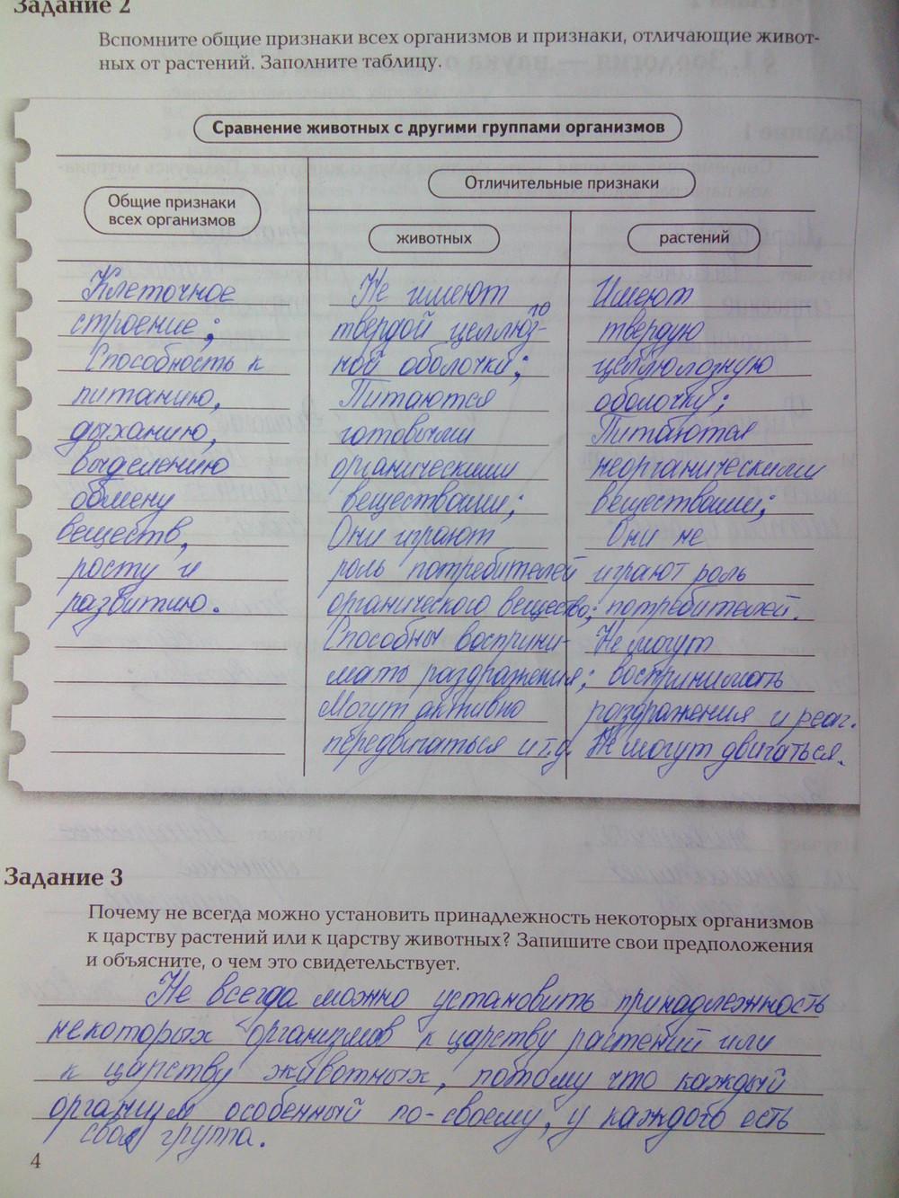 Гдз по биологии 7 класс в тетради авторы суматохин часть