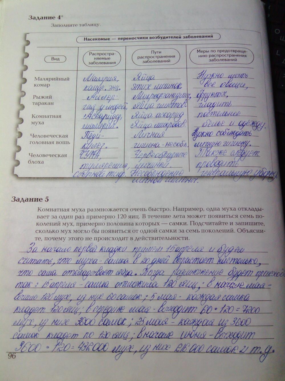Биология ответ 7 класс рабочая тетрадь константинов бабенко кучменко