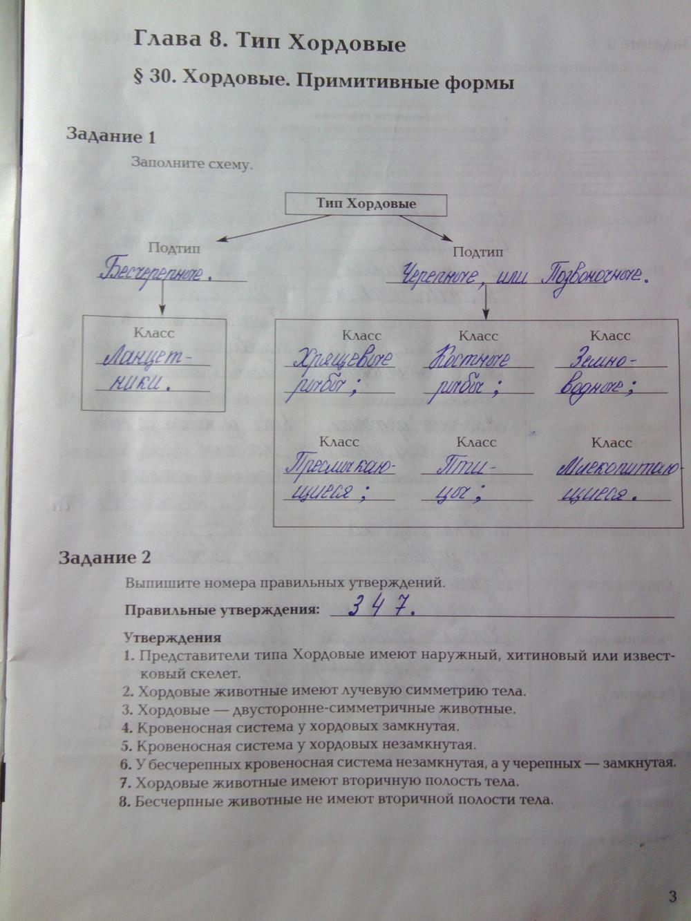 7 класс биология рабочая тетрадь суматохин кучменко
