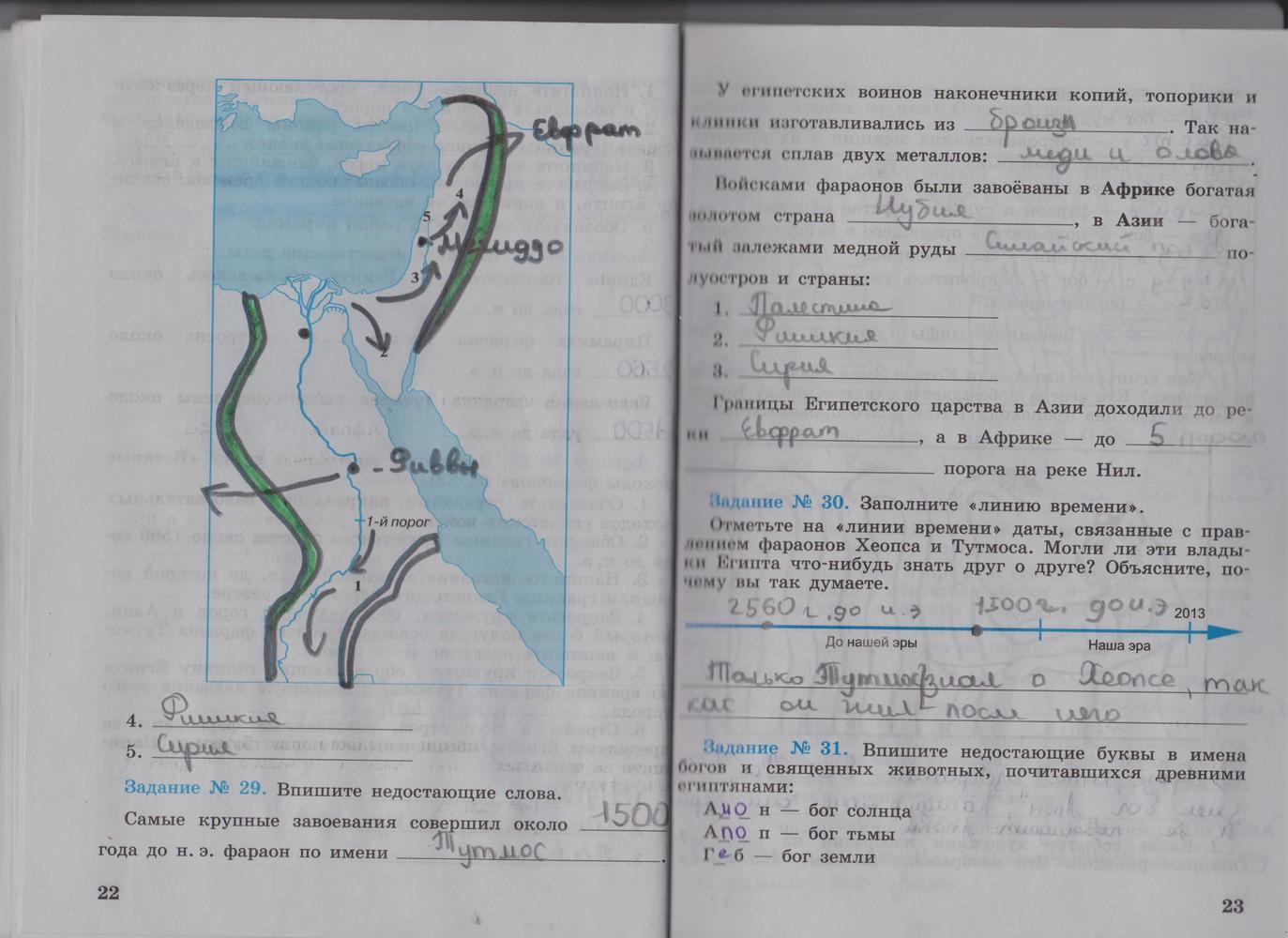 Готовые домашние задания в тетрадях по истории древнего мира годер