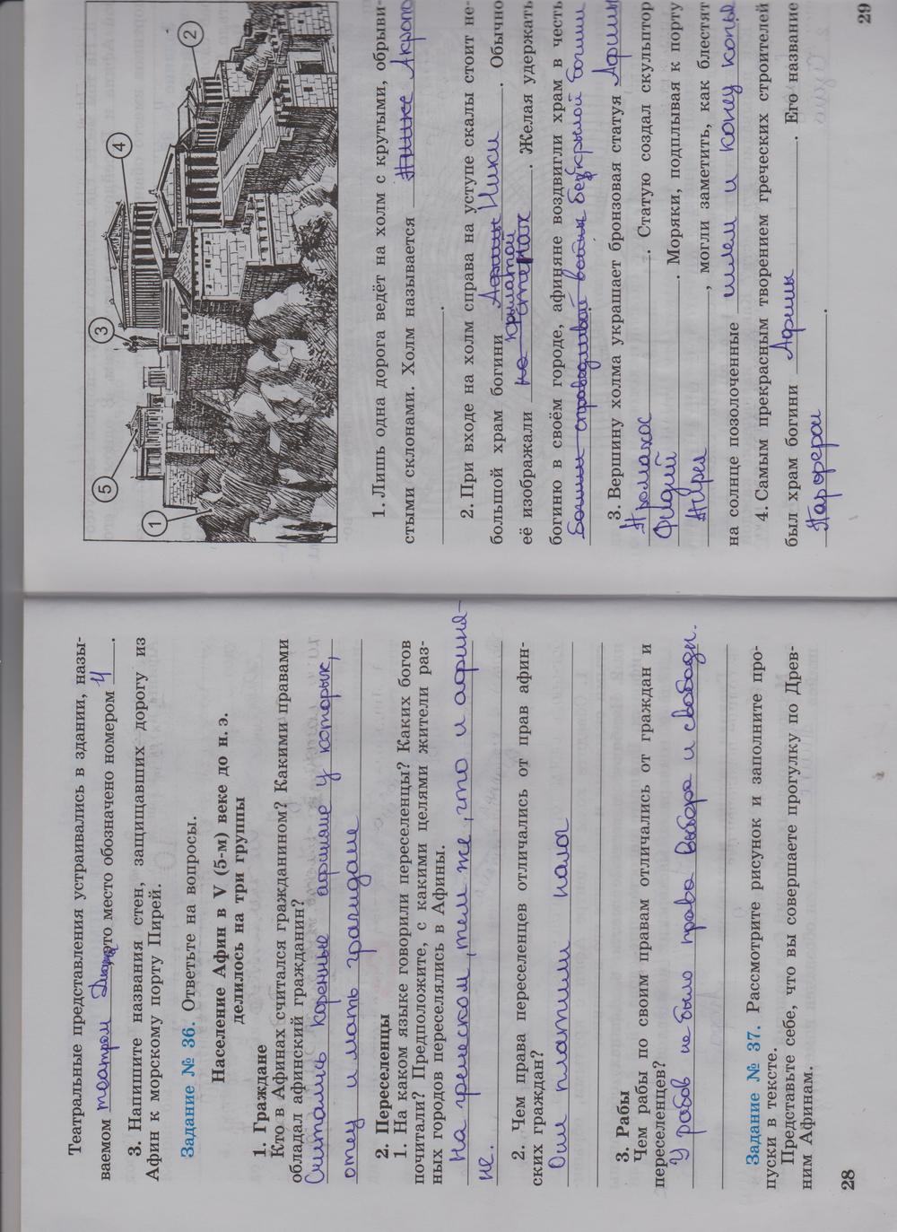 Задание по истории 5 класс по истории задание 74 в тетрадь