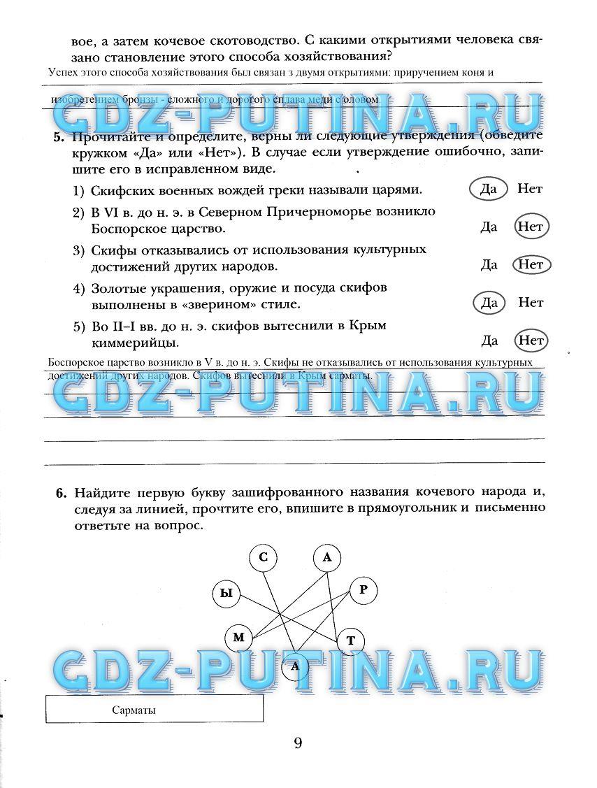 Готовые домашние задания по истории россии 7 класс рабочая тетрадь а а данилов