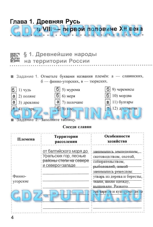 Гдз в рабочей тетради по истории россии 6 класс данилов косулина