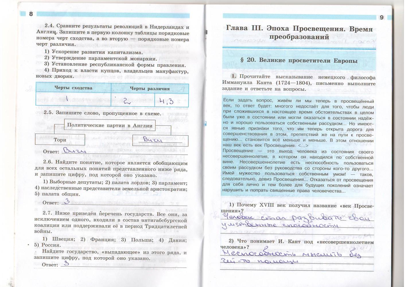 Готовые домашние задания по истории 5 класс рабочая тетрадь автор мартынов