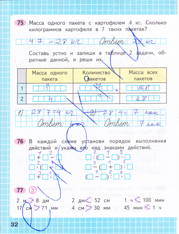 Рабочая тетрадь по математике 4 класс моро страница