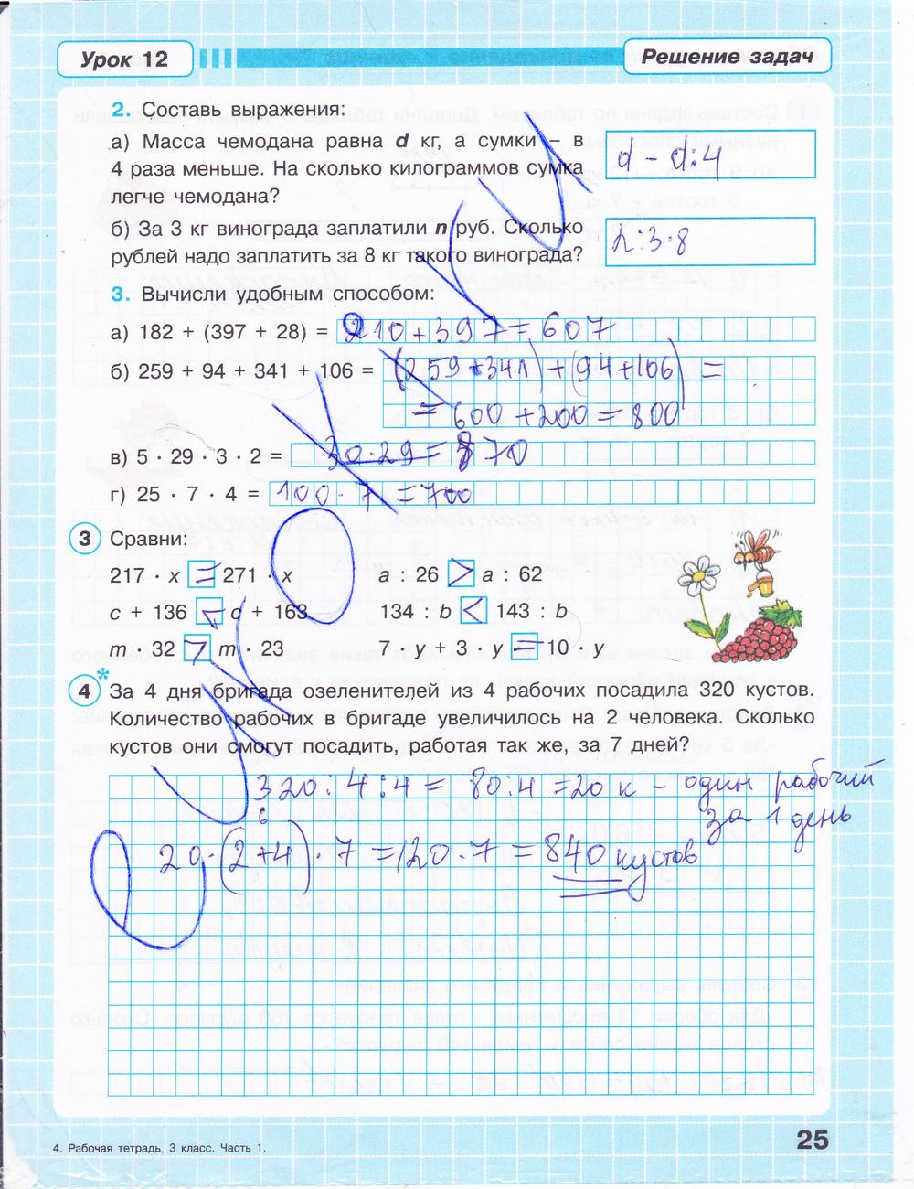 Все готовые домашние задания решебники по математике за 3 класс автор перспектив