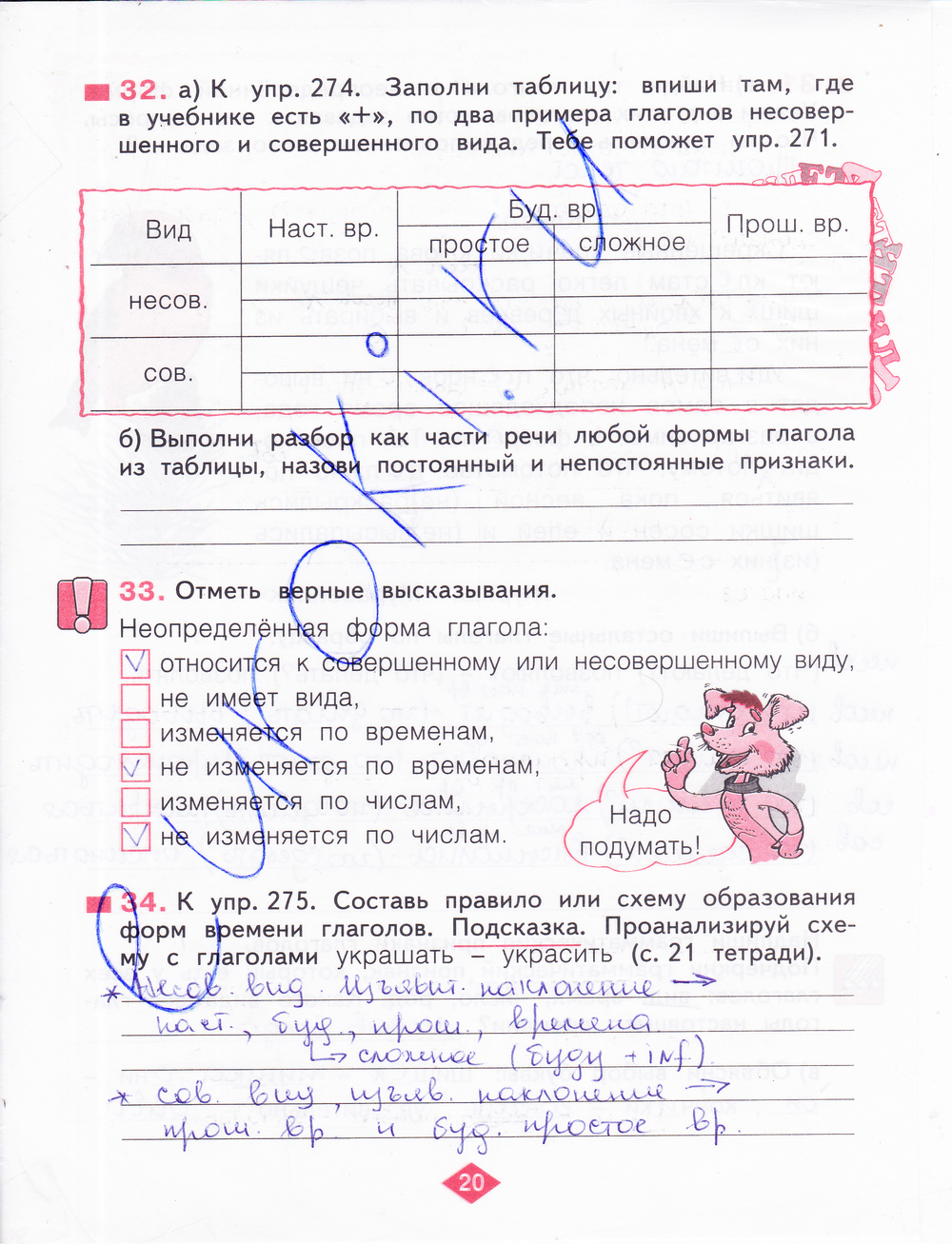 Готовое домашнее задание по русскому языку 2 класс н в нечаева часть первая